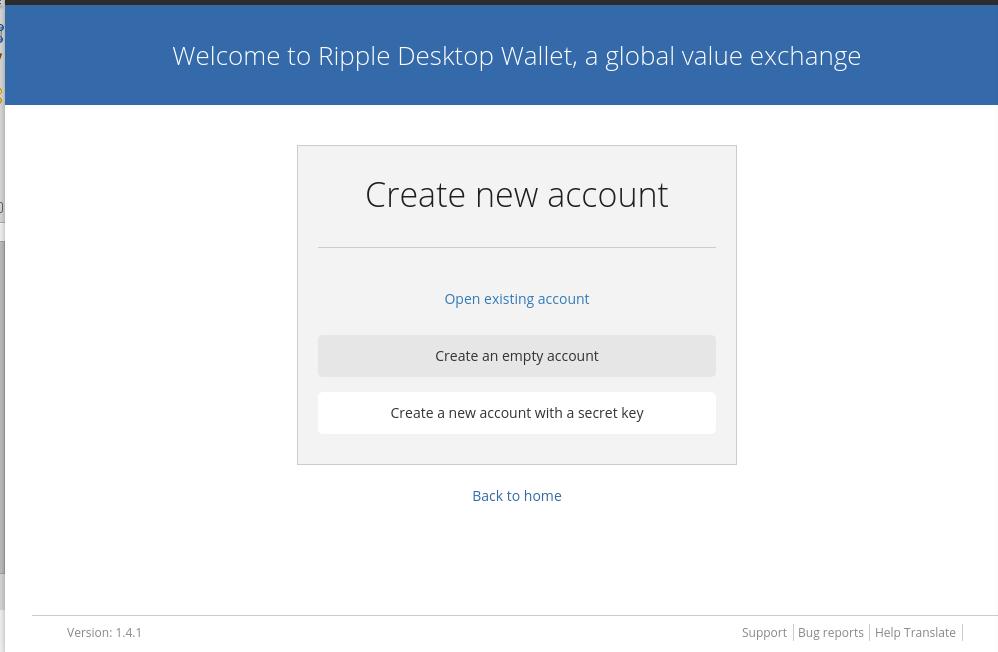 Ripple. Aprenda a utilizar a Rippex. Cadastro de nova conta.