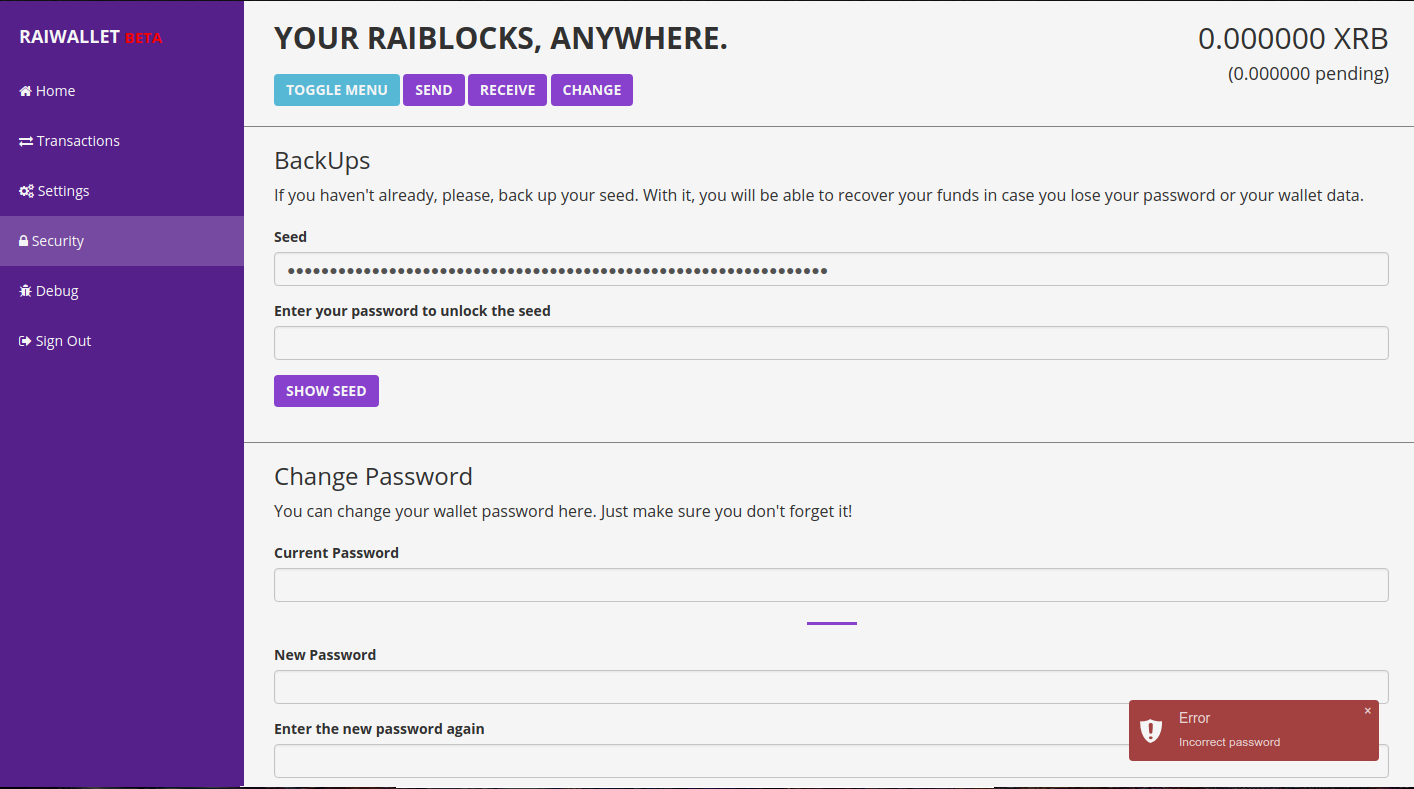 Raiwallet, a carteira digital de Raiblock.