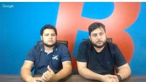 Guto Schiavon (E) e João Canhada (D) durante live da Foxbit (Foto: Reprodução)