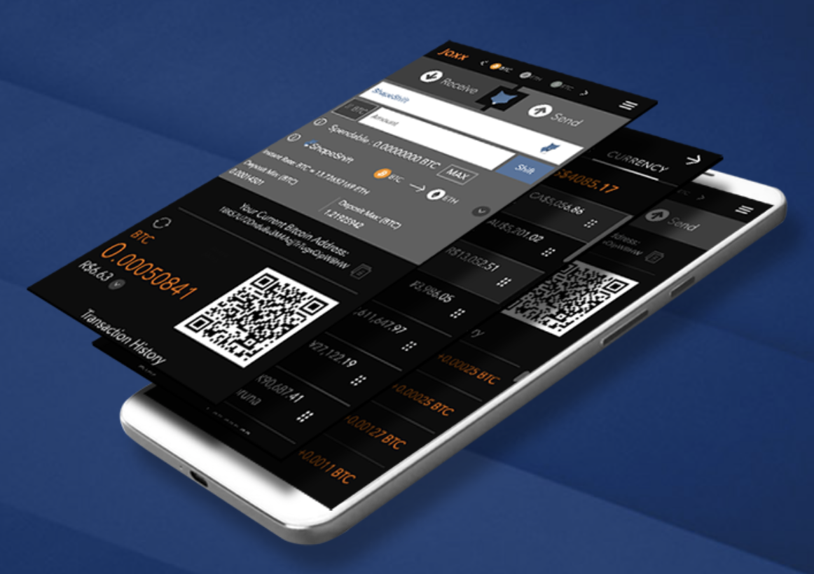 Carteira bitcoin mobile Jaxx foto