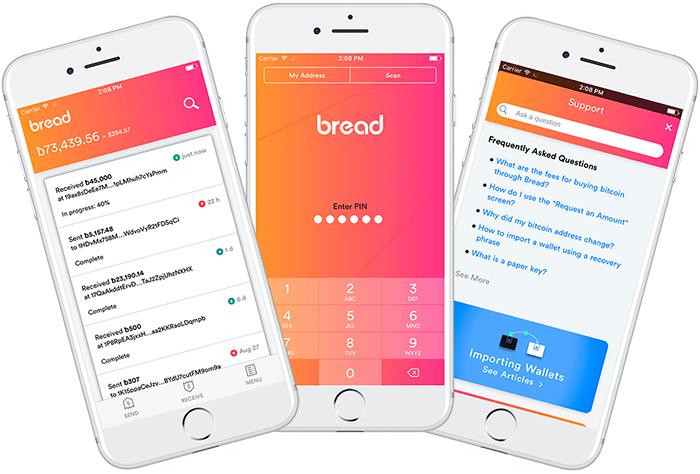 Carteira bitcoin mobile Bread foto