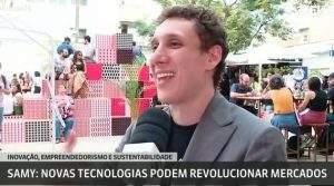 Apresentador da Globo News em evento (Foto: Reprodução)