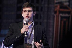 Rafael Steinfeld palestrando na Bitconf (Foto: Portal do Bitcoin)