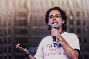 Edílson Osório durante sua palestra na Bitconf (Foto: Portal do Bitcoin)