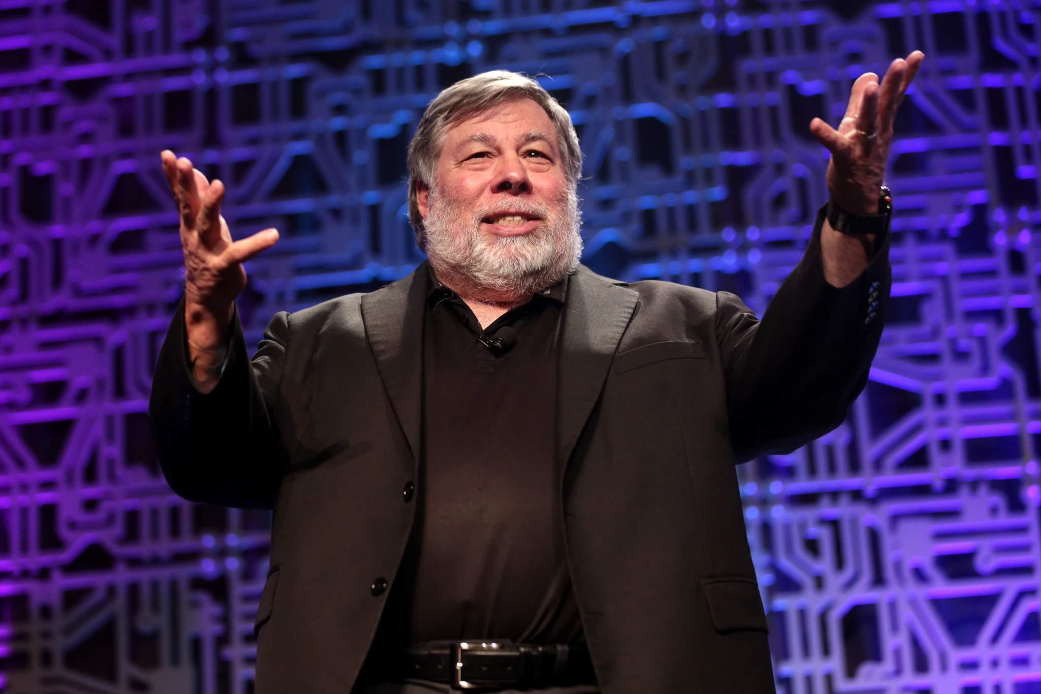 Steve Wozniak em palestra durante conferência de inovação (Foto: Gage Skidmore/Flickr)