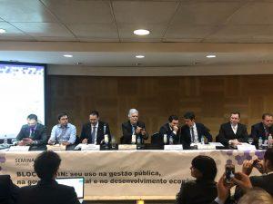 Especialistas debateram regulação do Blockchain em evento na FGV (Foto: Cláudio Rabin/Portal do Bitcoin)