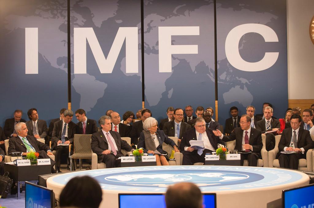 Conferência de membros do FMI (Foto: UN Financing for Sustainable Development/Flickr)