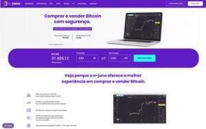 Homepage e-juno. Imagem: Divulgação