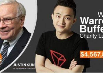 Fundador da Tron paga R$ 18 milhões para almoçar com Warren Buffett