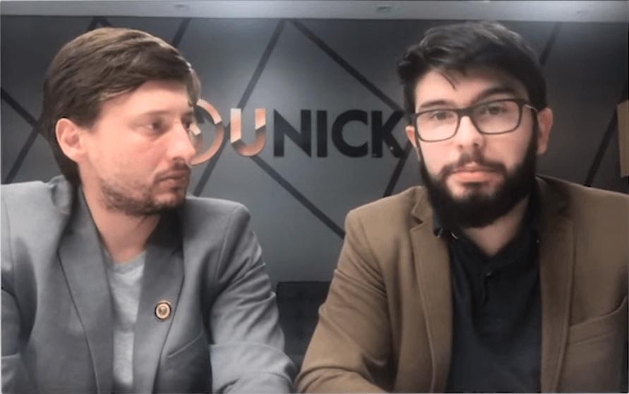 Danter Silva, diretor de marketing e Fernando Lusvarghi, diretor jurídico da Unick (Foto: Reprodução/Youtube)
