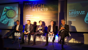 Debate durante a Fintech week'19, evento organizado pela Ibmec Rio
