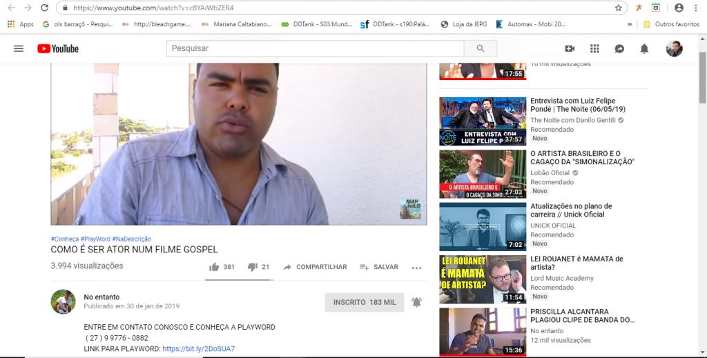 Youtuber gospel anunciou pirâmide mas se arrependeu