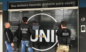 Polícia Civil de Santa Catarina prende três pessoas em operação contra pirâmide financeira