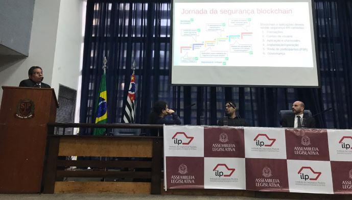 Aplicações do blockchain além das criptomoedas foram tema de seminário na Alesp, em São Paulo. (Foto: Rodrigo Borges Delfim/Portal do Bitcoin)