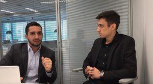 Leonardo Araújo, presidente da DD Corporation e Gabriel Rodrigues, que agora divulga a E-volve (Foto: Reprodução/Youtube)