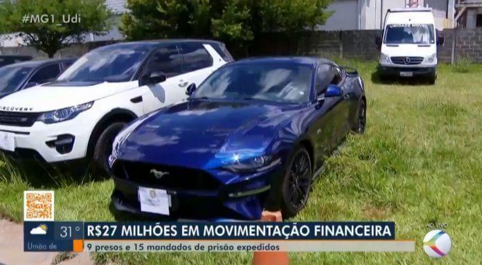 Ação em MG contra pirâmide financeira que movimentou R$ 27 mi prende dono e apreende carros de luxo