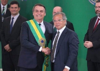 Presidente Jair Bolsonaro e o ministro da Economia Paulo Guedes (Foto: Valter Campanato/Agência Brasil)