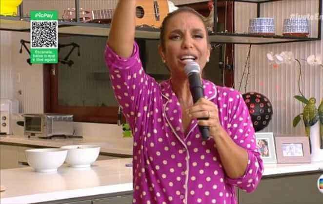 Live de Ivete Sangalo, que contou com QR Code do PicPay para captar doações contra o coronavírus