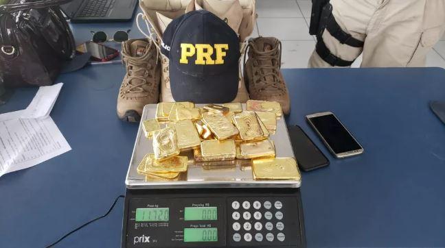 Vídeo: PRF do Pará apreende 12 kg de ouro escondidos nas botas de um motorista