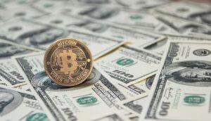 dólar, bitcoin