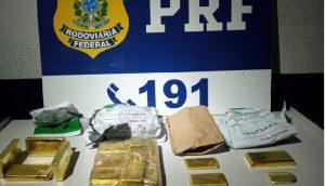 Vídeo: PRF descobre 18 quilos de ouro escondidos em carro no MT