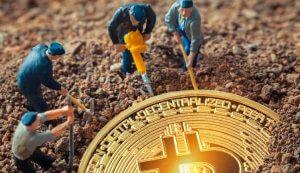 Moeda de bitcoin mineração