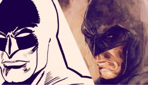 Arte do Batman desenhada por Jose Delbo e Trevor Jones (Foto: Delbo/Jones/ Makersplace)