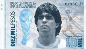 Maradona 10.000 pesos