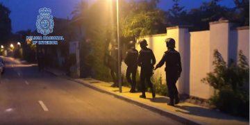 Início da operação de busca e apreensão da Polícia Nacional da Espanha (Imagem: Polícia Nacional da Espanha)