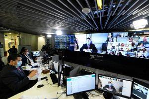 Senadores se reúnem em sessão remota nesta terça com três projetos em pauta (Foto: Leonardo Sá/Agência Senado)