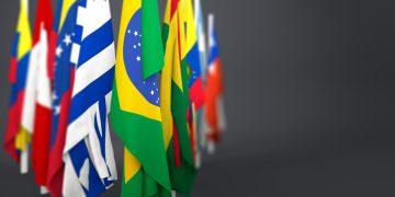Bandeiras de países da América latina (Foto: Shutterstock)