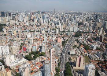 Vista aerea da cidade de São Paulo, rio Tietê (Foto: Diogo Moreira/Divulgação Governo de São Paulo)