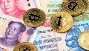 Bitcoin e Yuan (Foto: Shutterstock)