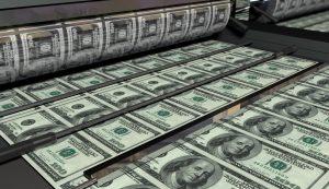 dólar, impressora