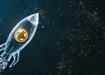 bitcoin, foguete, lua