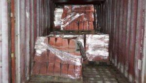 Conteiner com a falso cobre (Foto: Divulgação)