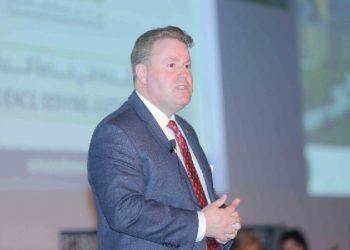 Ex-agente do FBI Gurvais Grigg durante apresentação (Foto: Divulgação)