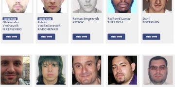 Lista com os mais procurados (Foto: secretservice.gov)