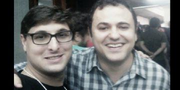 David Deccache (esq) com o líder do PSOL na Câmara, dep. Glauber Braga. Foto: Reprodução/Facebook