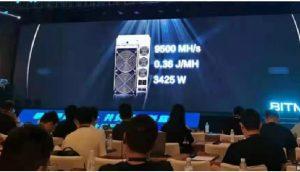 Evento de apresentação da nova máquina da Bitmain (Foto: Colin Wu/Twtitter)