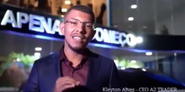 Kleyton Alves Pinto, criador da A2 Trader.  Foto: Reprodução/Youtube