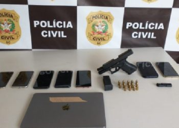 Material apreendido pela polícia (Foto: Divulgação)