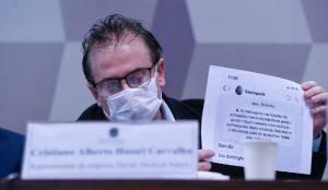 Representante oficial da Davati Medical Supply no Brasil, Cristiano Carvalho. (Foto: Agência Senado)