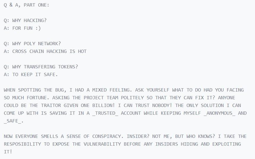 hacker poly network