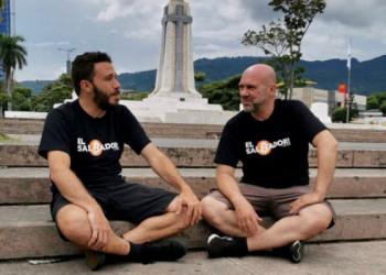 Marcos Amaral e André Velozo em El Salvador (Foto: divulgação)